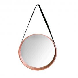 Espelho Redondo Com Alça 45CM Em MDF Rose-DELLA HOME