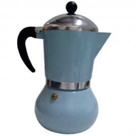 Cafeteira Italiana Alumínio Esmaltada Azul 300Ml - WINCY