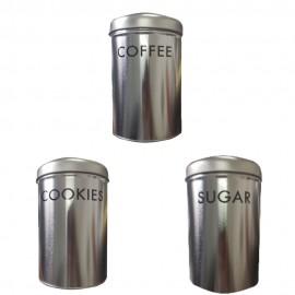 Conjunto De 3 Porta Mantimentos Coffee Cookies E Sugar- ISANOG