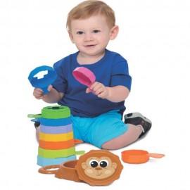 Brinquedo Educativo Empilhar Macaco Baby- MERCOTOYS