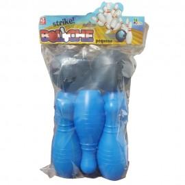 Jogo Mini Boliche Azul- LE PLASTIC