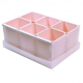 Caixa Organizadora Com 6 Divisórias Rosal Claro- DELLO