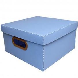 Caixa Organizadora Média Linho Azul Claro- DELLO