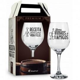 Taça Vinho Receita Para Uma Família Feliz 385Ml- BRASFOOT