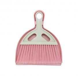 Conjunto Pá E Vassoura De Mão  Limpe+  Rosa-PLASVALE