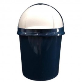 Lixeira Pia 4,1L Retrátil Azul- PLASVALE