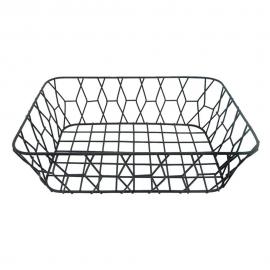 Fruteira Aramada De Metal Galia Retangular 35x25x10-YANGZI