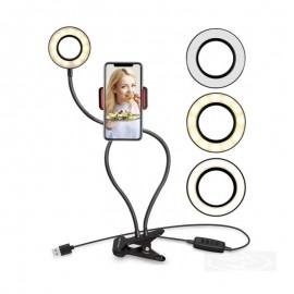 Anel De Luz LED Ring Light Com Suporte Para Celular E Controle- MAX MIDIA