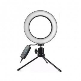 Anel De Luz LED Ring Light Com Tripé- MAX MIDIA