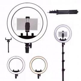 Kit Anel De Luz LED Ring Light Com Tripé 1,5M Dobrável- MAX MIDIA