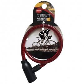 Corrente Antifurto Para Bicicletas Vermelho-CLINK