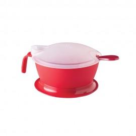 Açucareiro Com Colher 300Ml Vermelho- PLASUTIL