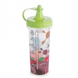 Bisnaga De Plástico Para Molho Decorada 250 Ml Verde- Plasútil