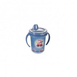 Caneca de Plástico 330 ml para Transição com Alça Removível e Fechamento Rosca Carrinhos