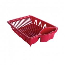 Escorredor De Louça 16 Pratos Vermelho- PLASUTIL