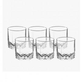 Jogo De 6 Copos Starlit Vidro Whisky 310 Ml- VITRIZI