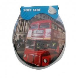 Assento Sanitário Adulto Estampa Ônibus Londres-SOFT SEAT