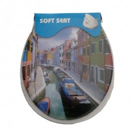 Assento Sanitário Adulto Estampa Torcello-SOFT SEAT