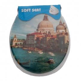 Assento Sanitário Adulto Estampa Veneza-SOFT SEAT