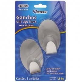 Conjunto 2 Ganchos Inox Oval-WESTERN