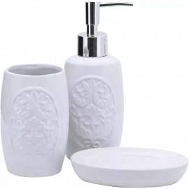 Jogo Banheiro 3 Peças Porcelana Barroco- YAZI