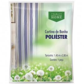 Cortina De Banho Poliéster-PREMIUM HOME