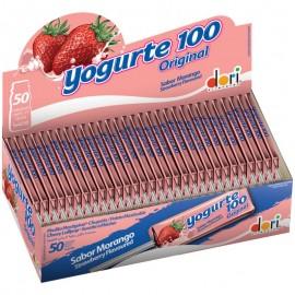Caixa Com 50 Pirulitos Mastigáveis Yogurte 100 Original-DORI