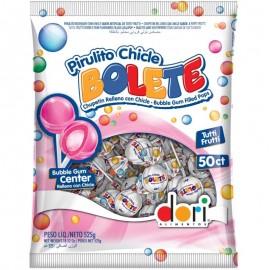 Pacote Com 50 unidades De Pirulitos Chicle Bolete-DORI