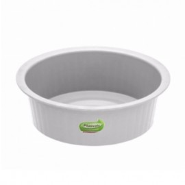 Bacia De Plástico Canelada 4,6 Litros Cores Sortidas- PLASVALE