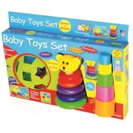 Aprendendo Brincando Baby Toys Set Encaixe Anéis- PICA PAU