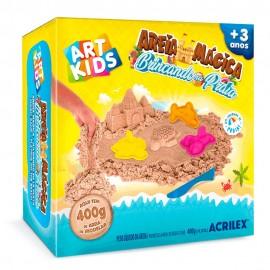 Areia Mágica Brincando na Praia 400G- ACRILEX