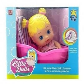 Boneca Little Dolls Loira Banheirinha – DIVER TOYS