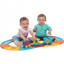 Babytrain Express Didático 12 Trilhos- MERCOTOYS