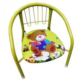 Cadeira Infantil Com Armação De Metal Estofado- 123 ÚTIL