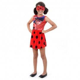 Fantasia Ladybug Faces G 10-12 Anos- SULAMERICANA