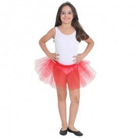 Fantasia M. Your Own Saia Tule Vermelho G 10-12 Anos- SULAMERICANA