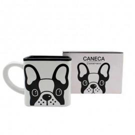 Caneca Cubo 300Ml Bulldog Francês- ZONACRIATIVA