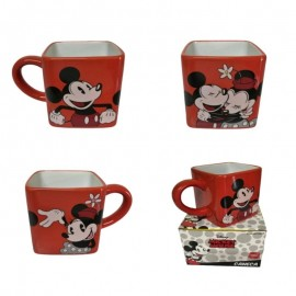 Caneca Cubo 300Ml Disney Mickey E Minnie- ZONACRIATIVA