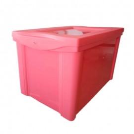Caixa Organizadora Alta 30L Rosa - SANREMO