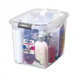 Caixa Organizadora Cristal Flex Média 31,8X22,8X23,1Cm 11L- SANREMO