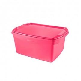 Caixa Organizadora Flex 29L Rosa- SANREMO