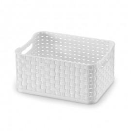 Caixa Organizadora Rattan Branco 18X13X9Cm 1,74L- ARTHI
