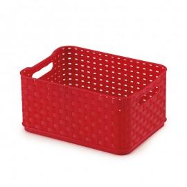 Caixa Organizadora Rattan Vermelho 18X13X9Cm 1,74L- ARTHI