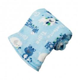Cobertor Infantil Microfibra Safari Azul 0,80X1,10M- CAMESA