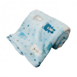 Cobertor Infantil Microfibra Ursinhos Azul 0,80X1,10M- CAMESA