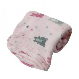 Cobertor Infantil Microfibra Ursinhos Rosa 0,80X1,10M- CAMESA