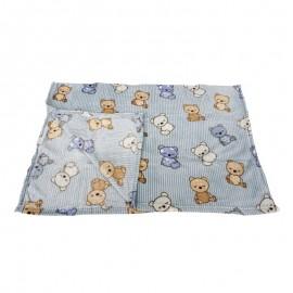 Cobertor Microfibra Bear Blue Baby- CAMESA