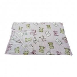 Cobertor Microfibra Bear Rosa Baby- CAMESA