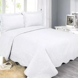 Colcha Barroque Branco Casal Queen G/G 220X240- CAMESA