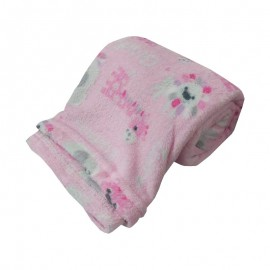 Cobertor Infantil Microfibra Safari Rosa 0,80X1,10M- CAMESA